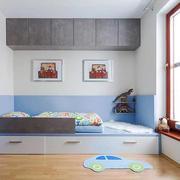 8平米简约风格儿童房榻榻米床装修效果图赏析