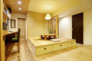 10平米日式风格书房榻榻米装修效果图赏析