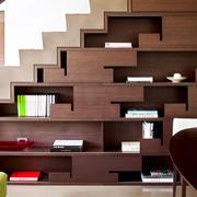 现代风格创意楼梯收纳柜设计装修效果图