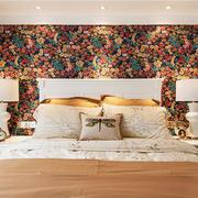 简欧风格大户型主卧室背景墙装修效果图