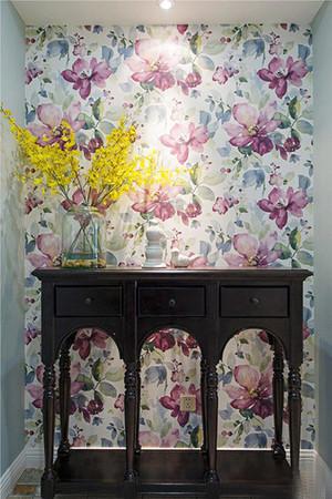 古典欧式风格时尚混搭进门玄关背景墙装修效果图