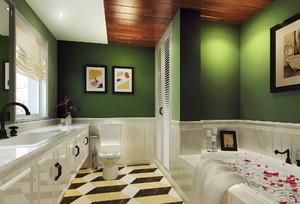 美式风格超豪华别墅卫生间装修效果图赏析