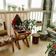 现代中式风格阳台花园装修效果图鉴赏
