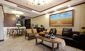 大户型东南亚风格公寓装修效果图赏析