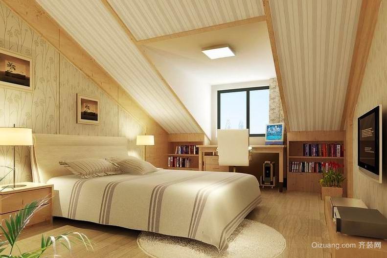 后现代风格创意阁楼卧室吊顶装修效果图