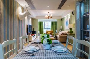 135平米美式田园风格三室一厅装修效果图赏析