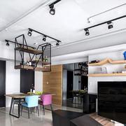 现代loft风格创意餐厅吊顶设计装修效果图