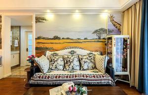 三居室美式乡村风格时尚混搭公寓设计实景图赏析