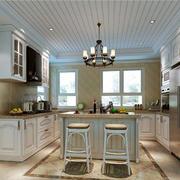 大户型精致欧式风格厨房吊灯设计效果图