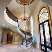 别墅欧式风格室内楼梯设计装修效果图