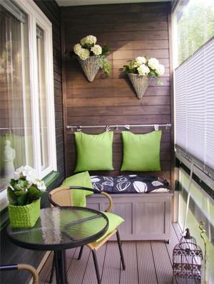 现代风格时尚混搭阳台榻榻米装修效果图