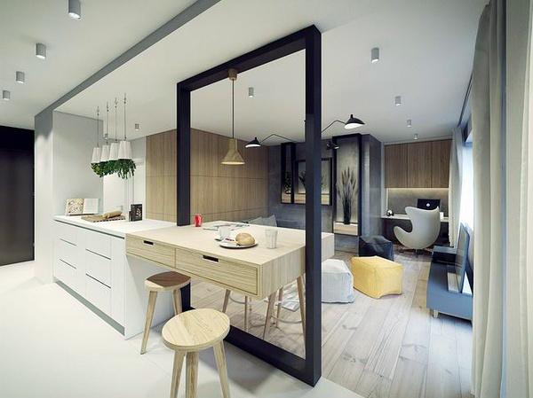 大户型北欧风格简约创意厨房吧台装修效果图赏析