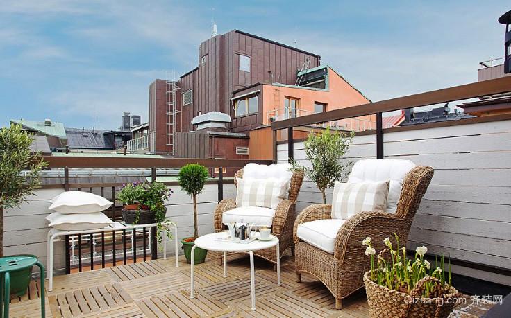简约风格时尚创意阳台设计装修效果图
