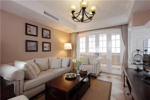 148平米现代美式风格三室两厅装修效果图赏析
