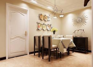 70平米现代简约风格餐厅设计效果图