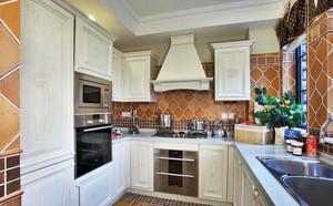 简欧风格大户型厨房设计实景图赏析