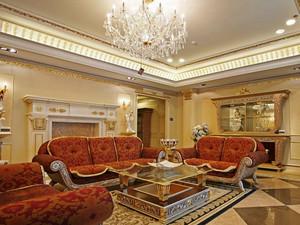 235平米别墅超豪华法式风格客厅设计实景图赏析