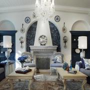 大户型地中海风格精致客厅设计装修效果图