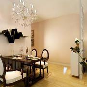 现代简约风格100平米室内餐厅吊灯装修效果图