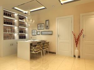 115平米简欧风格餐厅酒柜设计装修效果图赏析