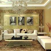 2016年简欧风格大户型客厅背景墙设计装修效果图赏析