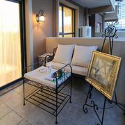 115平米现代风格阳台铁艺沙发设计效果图