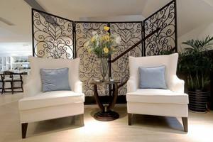 160平米复式楼现代风格小客厅隔断设计效果图