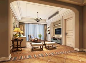 大户型地中海风格客厅电视柜装修效果图