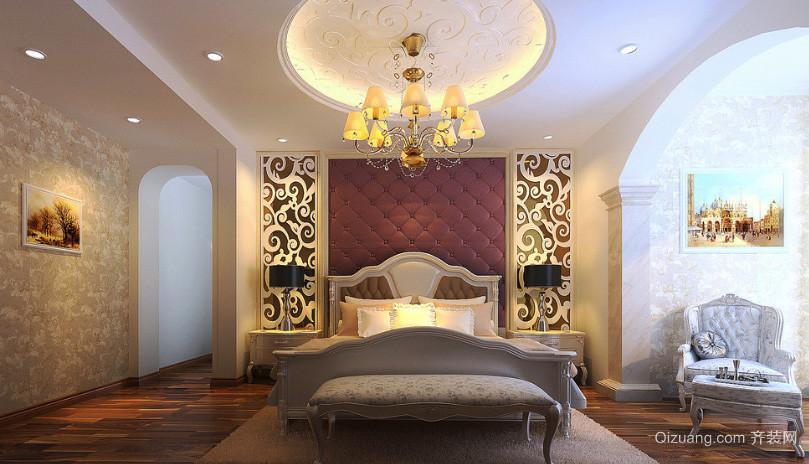简欧风格大户型卧室吊顶设计装修效果图