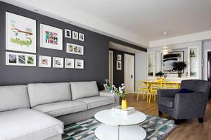 现代简约风格黑白灰时尚公寓设计装修效果图