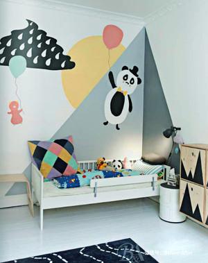 15平米现代简约风格时尚创意儿童房设计装修效果图
