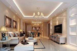 简欧风格精致华丽客厅吊顶装修效果图大全