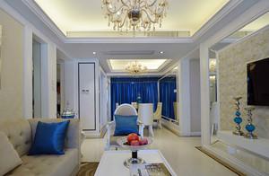 欧式风格精致典雅三居室室内装修效果图