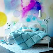 10平米宜家时尚靓丽卧室背景墙装修效果图