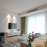 现代简约风格客厅窗帘设计效果图赏析