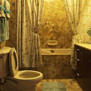 复古欧式风格精致卫生间隔断设计装修效果图
