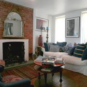 美式乡村风格客厅壁炉装修效果图赏析