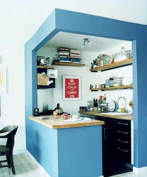 地中海风格小户型创意厨房设计装修效果图赏析