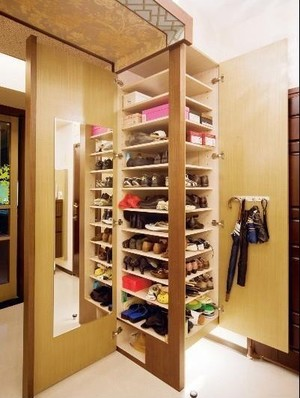 3平米现代简约风格温馨时尚玄关鞋柜设计效果图