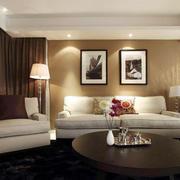 现代简约风格客厅棕色地毯设计装修效果图