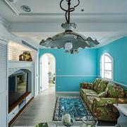地中海风格时尚混搭客厅电视背景墙装修效果图