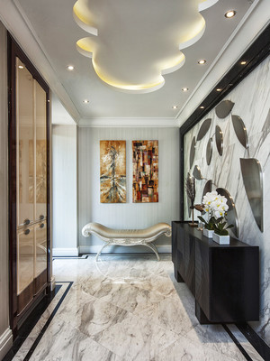 大户型现代奢华风玄关装饰画设计效果图
