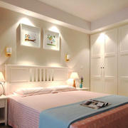 8平米简欧风格女生卧室衣柜设计装修效果图