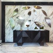 后现代风格创意玄关背景墙设计装修效果图