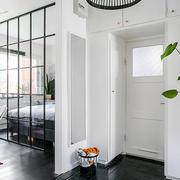 北欧风格自然简约卧室镂空隔断设计效果图
