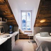 168平米复式楼北欧风格阁楼卧室装修效果图