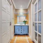 简欧风格走廊过道洗漱台设计装修效果图赏析