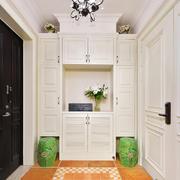 9平米简欧风格进门玄关鞋柜设计装修效果图赏析