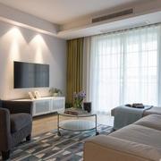 极简主义风格轻快客厅设计装修效果图