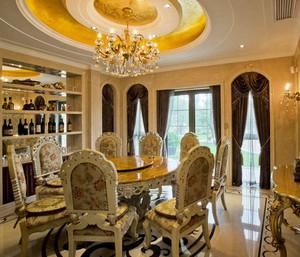 20平米法式风格精致奢华餐厅设计装修效果图